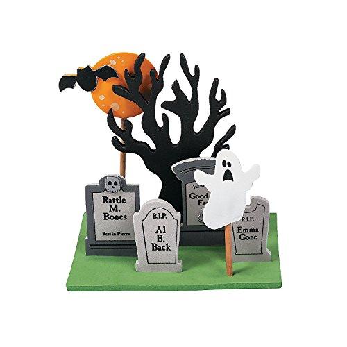 (Fun Express - Foam Halloween Graveyard 3D Scene CK-12 for Halloween - Craft Kits - Home Decor Craft Kits - 3 - D Tabletop - Halloween - 12)