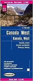 Canadá oeste, mapa impermeable de carreteras. Escala 1:1