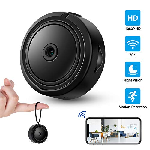 Hidden Camera, 1080P Home Security Nanny Camera with WiFi, Super Night Vision Portable Wireless Surveillance Camera, 120° Wide-Angle Lens, Perfect Hidden Camera for Home, Car, Office, Outdoor