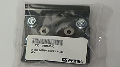 Genuine Whiting part# 5600 roll up door heavy duty bottom bracket, pack of 2