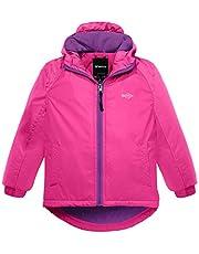 Wantdo Girl's Windproof Waterproof Raincoat Hooded Ski Fleece Ski Jacket
