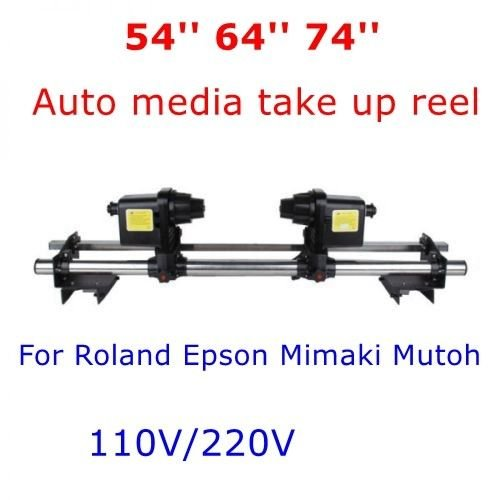 best 64'' Automatic Media Take up Reel System Pickup Roller + 2