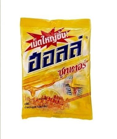 Amazon.com: Thai Halls Chupete Limón Miel Candy 36 gotas l ...