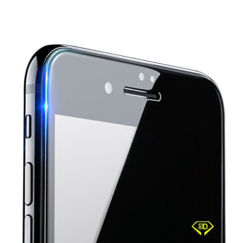 Benks iPhone 8 Plus/7 Plus Tempered Glass Screen Protector with 3D Curved Edge Full Coverage Film Shatterproof HD Screen Protector for iPhone 8 Plus/7 Plus (Black Frame, 5.5-Inch)