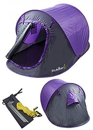 Summit 2 Man Pop Up Tent 3 Season Purple  sc 1 st  Amazon UK & Summit 2 Man Pop Up Tent 3 Season Purple: Amazon.co.uk: Sports ...