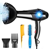 Hair Dryer Professional Ionic 3000W PluieSoleil with 2 Speed and...