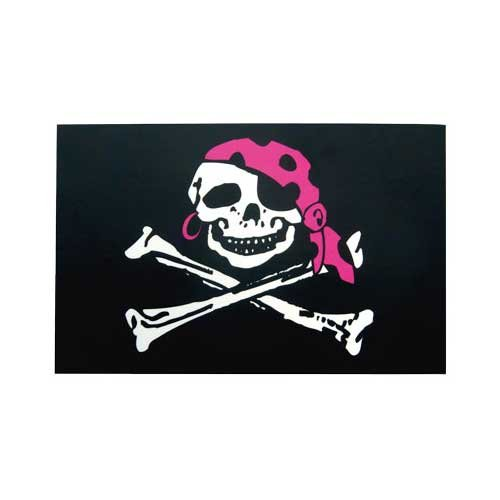 Vinyl Pirate Girl Flag Decal (Girl Pirates)