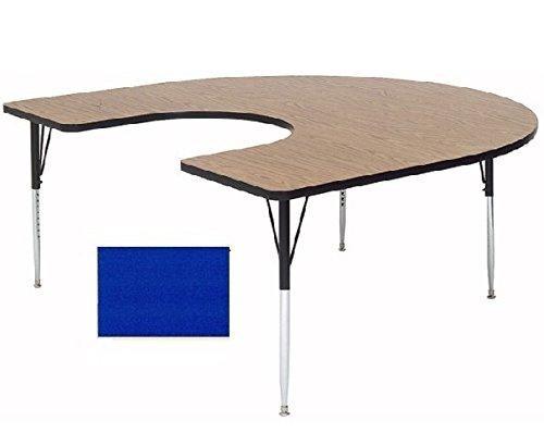 Correll A6066-HOR-37 Horseshoe Top Activity Table Blue