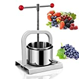 0.8 Gallon Cheese Press Butter Press Herb Oil Press Tinctures Manual Stainless Steel Press Fruit Wine Press