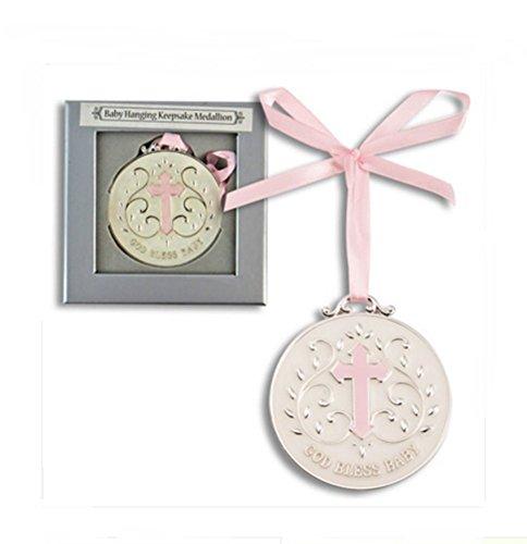 DG Shopping Spree Pink God Bless Baby Keepsake Medallion ()