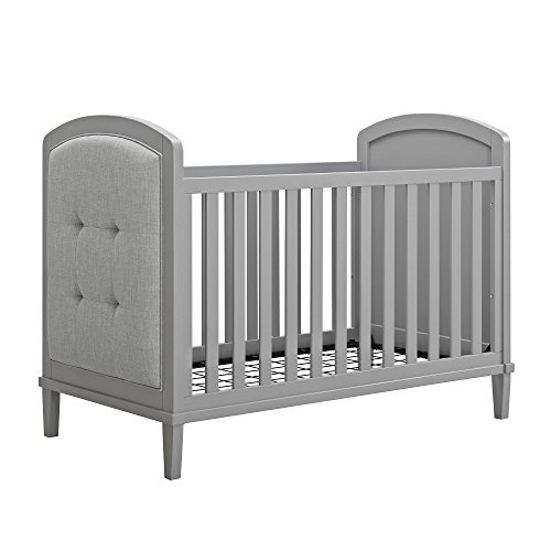 Baby Relax Senna 3-in-1 Upholstered Crib, Gray