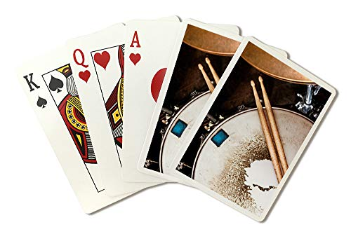 Drums Up Close Photography A-90995 (Playing Card Deck - 52 Card Poker Size with Jokers)