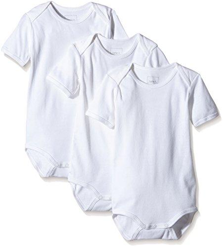 NAME IT Baby-Jungen Body NITBODY SS M NOOS, 3er Pack, Gr. 98, Weiß (Bright White)