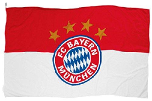 Flagge FC Bayern München Logo - 100 x 150 cm + gratis Aufkleber, Flaggenfritze®