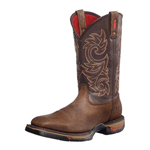 Rocky 8654 Men's Long Range Square Toe Western Boot Coffee 1