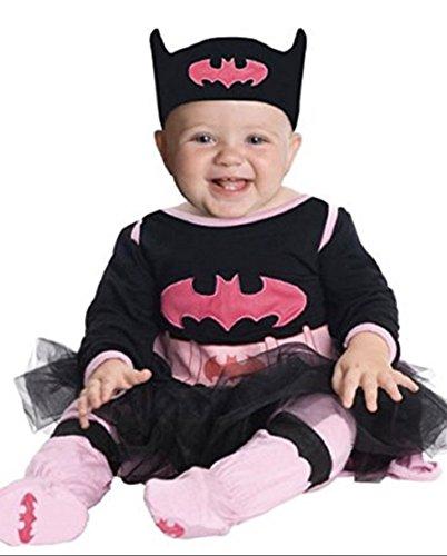 Baby Infant DC Super Friends Batgirl Halloween Costume (6-12 Months) Black Pink