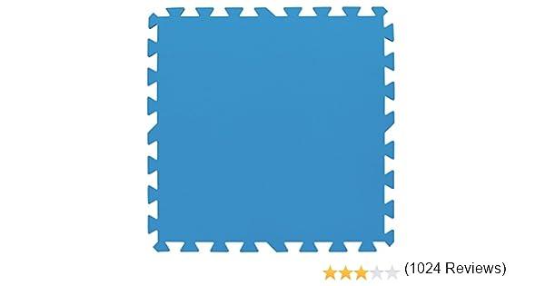 Bestway 58220 - Tapiz de Suelo de Goma 9 piezas 50x50 cm Azul ...