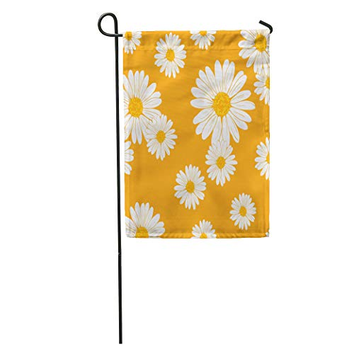 Silhouette Daisy Floral Pattern Garden Sketch Abstract Abstraction Beach Beautiful Home Yard Decor Barnner Outdoor Stand 28x40 Inches Flag ()
