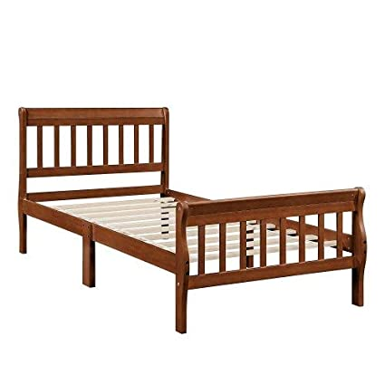 Strange Amazon Com Hxsd Wooden Platform Bed Twin Frame Bed Spiritservingveterans Wood Chair Design Ideas Spiritservingveteransorg