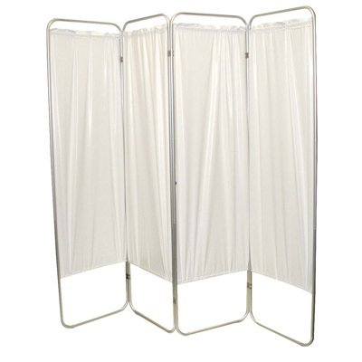 Standard 5-Panel Privacy Screen - White 6 mil vinyl, 84