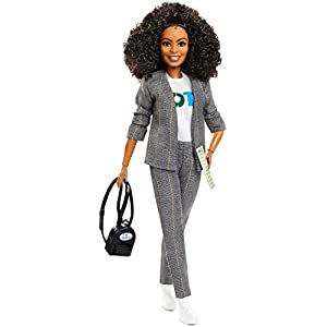 Best Epic Trends 41umFeyHV5L._SS300_ Barbie Yara Shahidi Shero Doll (12-inch Brunette, Curly Hair) Collectible Barbie Doll in 'Vote' T-Shirt, with Doll Stand…
