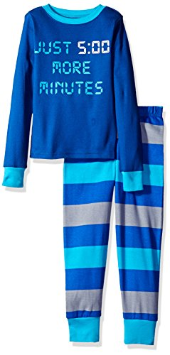 Min Cotton (The Children's Place Little Boys' 2-Piece Cotton Pajama Set, Min/Inked,)