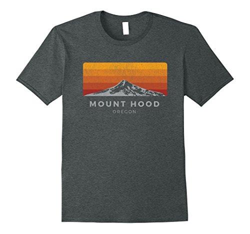 Mens Distressed Mt Hood Oregon Sunrise Shirt Large Dark Heather
