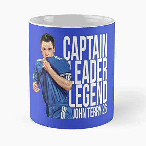 John Terry Jt26 Chelsea Fc Cfc Coffee Mugs Unique Ceramic Novelty Cup ()