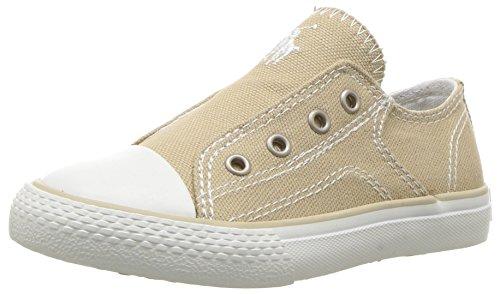 (Polo Ralph Lauren Kids Boys' Rowan Sneaker, Khaki Canvas White pop, 8.5 Medium US Toddler)
