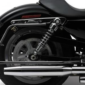 - Cycle Visions CV7405B Bagger-Tail Kit for Dyna - Black Bag Mounts