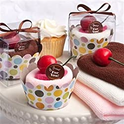 Cupcake Design Towel Favor