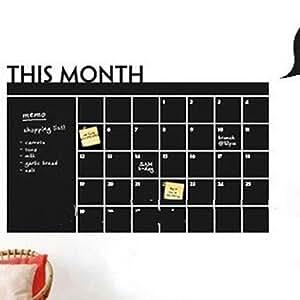 Home office decoraci n pizarra pizarra pizarra mensual calendario pared adhesivo hogar - Pizarra calendario ...