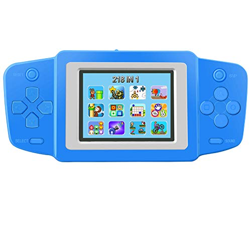 TEBIYOU Kids' Handheld Games, Built in 218 Classic Video Electronic Games 2.5'' Screen USB Rechargeable Lithium Battery Game Console Player Birthday Gift for Children