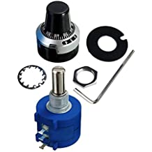 LGDehome 3590S-2-103L 10K Resistor Ohm Rotary Wire Wound Precision Potentiometer Pot with 10 Turn Counting Dial Rotary Knob the Scale Knob Set