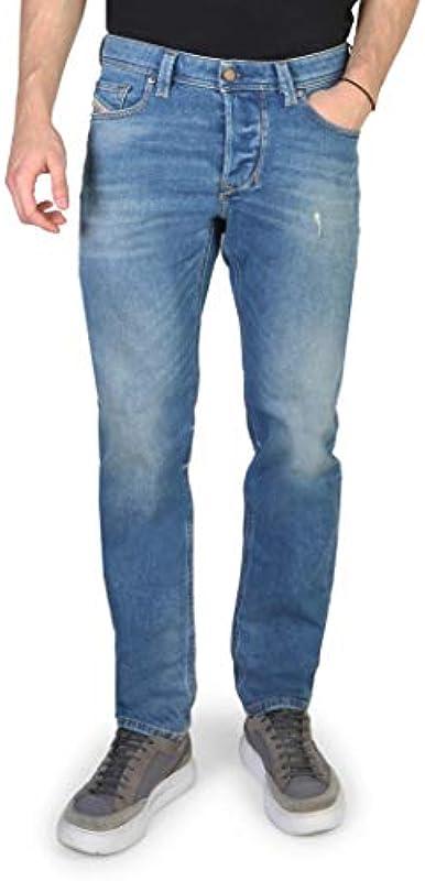 Diesel męskie jeansy Larkee-Beex RF84E Regular Tapered Used-Look: Odzież