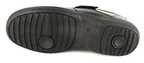 Weit Men En Léger Extra Einlagen Noir Cuir 20614 Ara Velcro Souple Convient a4xw48