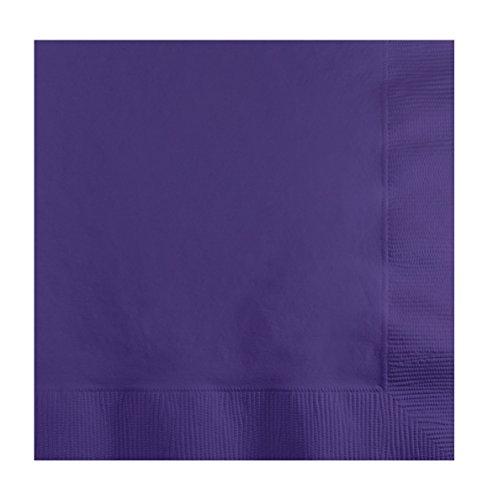 Beverage Napkins X5 50 Pkg Purple