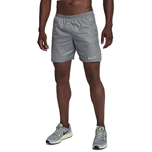 Nike Distance Men's 7' Printed Running Shorts, Cool Grey, Large