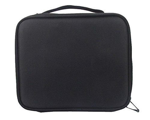 Tmrow 1pc Makeup Train Case 2 Layer Cosmetic Organizer Beauty Artist Storage Brush Box with Shoulder Strap by Tmrow