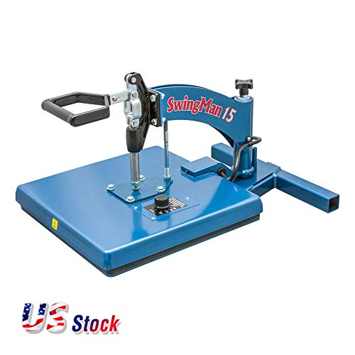 "USA HIX Swingman15 Manual Swing-Away Heat Press with Hand-held Timer & 15"" x 15"" Platen"
