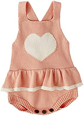 036b82367018 Amazon.com: NUWFOR Newborn Baby Girls Boys Heart Knitted Toddler Overall  Jumpsuit Clothes Outfits(Pink,12-18Months): Home & Kitchen