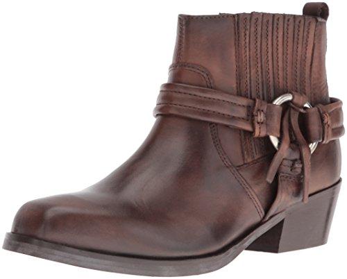 Diesel Women's Squar Harless Bootie Shoe, Dark Brown, 7.5 M US