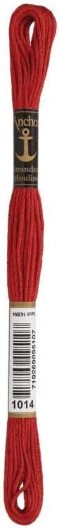 Farbe 1014 rotbraun mittel Sticktwist Anchor 8 m-Str/ängchen