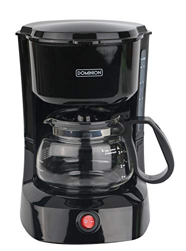 Dominion D7009CM Compact Coffee Pot Brewer Machine, Black