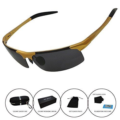 Men's Polarized Sunglasses Driving Riding Fishing Unbreakable Frame Fashion Glasses - Quavo Sale For Glasses