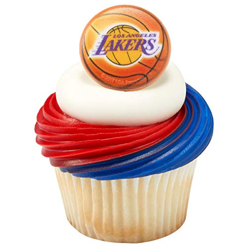 Decopac NBA Los Angeles Lakers Cupcake Rings Cake Toppers Decoration ()