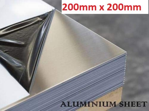 poly coated protection to both faces aluminium sheet 2mm 125mm x 125mm x 2mm Various sizes