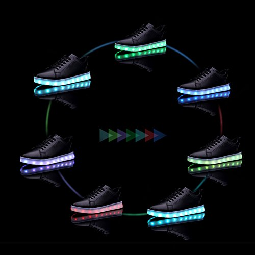 c68583016ce3 CIOR Led Light Up Shoes 11 Colors Flashing Rechargeable Sports Dancing  Sneakers for Mens Womens Boys