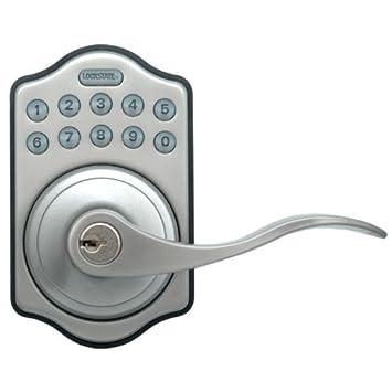 LockState LS-L500-SN Electronic Keypad Lever Door Lock - Doorknobs ...