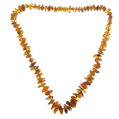 Amber Necklace Boutique Burnt Honey Orange Authentic Baltic Gemstone Yellow Knotted B12 ()